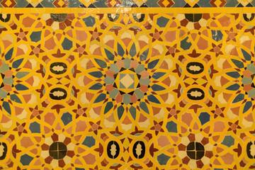 tile work in the mosque of Hassan II in Casablanca