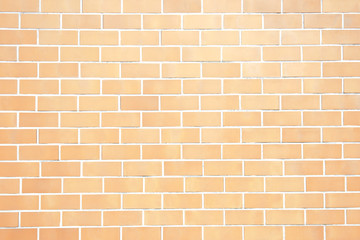 Orange yellow new brick wall perfectly background. Best clean brick wall. Sweet and cute. Close up. Front view.
