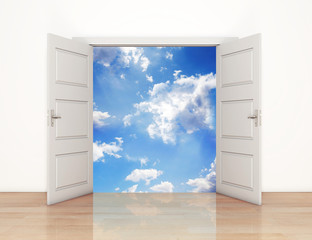 Open doors to heaven