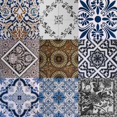 ceramic tile texture - design wall bathroom indoor outdoor handcraft pattern background