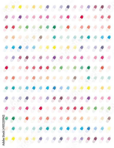 Happy Pills Colorful Minimalistic Flat Designcolors Printable