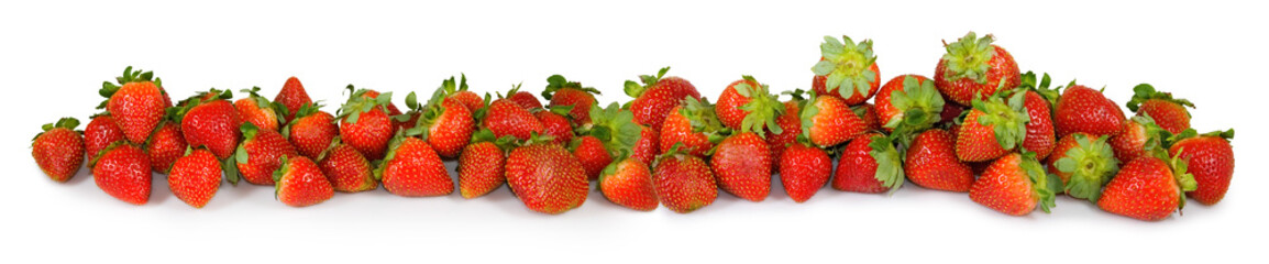 isolated  image of strawberry closeup