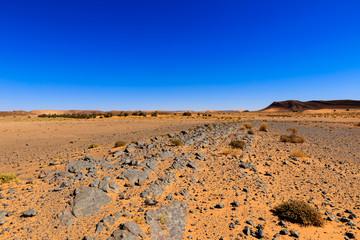 stones in Sahara desert