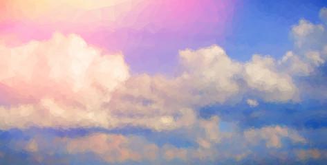 Sunrise Sky Vector Polygonal Background