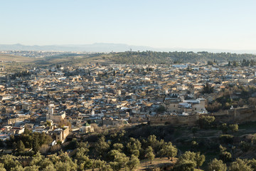 view of the ancient medina of Fes