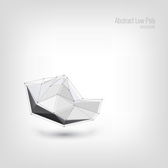 Abstract Low Poly Background. Crystal Geometric. Structure Shape Crystal. Futuristic Poly Crystal. Vector Illustration