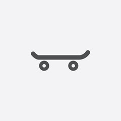 skateboard icon on white background