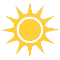 Orange sun icon vector illustration
