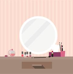 Kosmetikspiegel Make Up Vektor