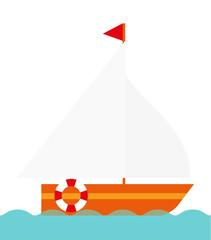 Segelboot Schiff Vektor