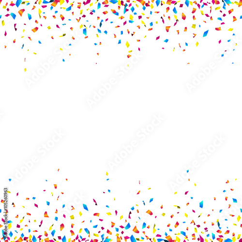 Quot Celebration Background With Colorful Confetti Seamless