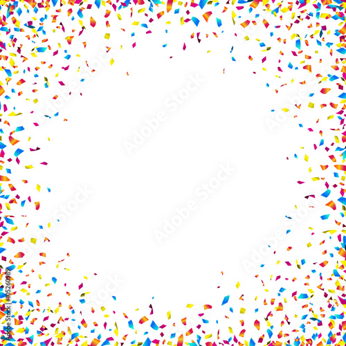 celebration background with colorful confetti. vector illustration