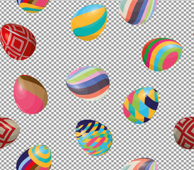Seamless pattern with easter eggs. Easter theme