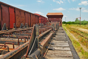 Old railway wagon