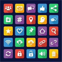 Social Media Icons Flat Design