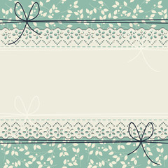 Decorative lace frame with stylish flowers and leaves