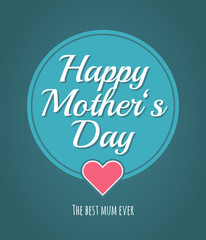 Best mum ever. Greeting gift card for Mother's Day. Trendy retro style design. Abstract background poster. Happy Mother's Day!