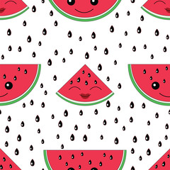 Watermelon seamless pattern.Baby and kids style abstract geometr