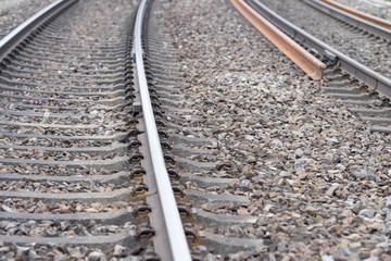 Schienen der Eisenbahn