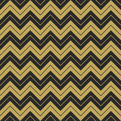 Zigzag hipster seamless sharp corner pattern, repeating broken golden and black line, greeting card background mockup