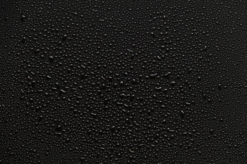 water drops on black background.