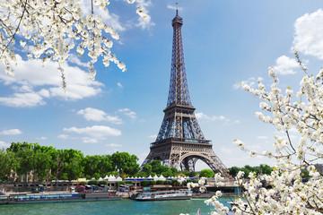 eiffel tour over Seine river