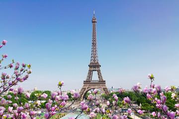 Poster Eiffeltoren Eiffel Tower and Paris cityscape