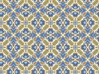 Mediterranean Traditional Floral Decor.