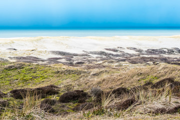 Sea view / A landscape view of the ocean from th sand dunes