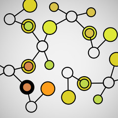 Abstract geometric lattice,  molecules on same chain. Beautiful set of molecular lattice.  Vector composition for design