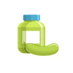 Jar with cucumber