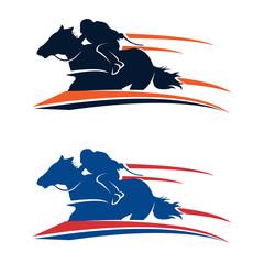 Fast Racehorse Running Silhouette Illustration