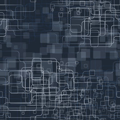 A trendy blue tech styled background. Seamlesspattern. Vector illustration