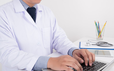 Doctor at desk working