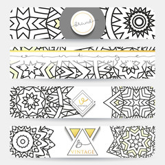Mandala. Banner with a pattern handmade in retro colors . Maroon Mandala doodle . Template mandala print . Zentangle in white gray  colors . Zentagle . Sacred geometry.