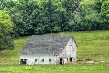 Weathered Barn in the America Midwest