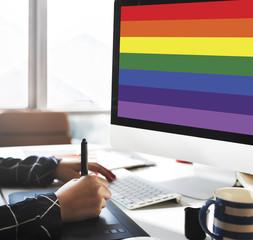 Rainbow Symbol Love Free Homosexual Concpet