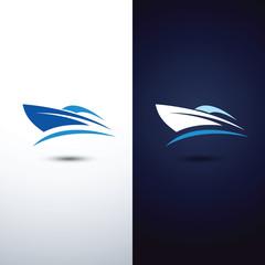 speedboat symbol vector