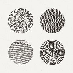 Circles set. Vector illustration. Texture geometric figure.