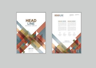 Vector brochure template design Set A
