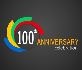 100th Anniversary celebration background, 100 years anniversary card illustration - vector eps10