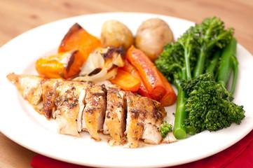 farm fresh roast chicken dinner