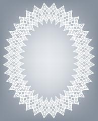 Lace oval frame