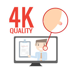 4k quality advertise,vector