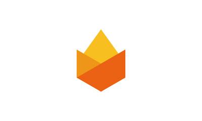Fire Logo Template Fototapete