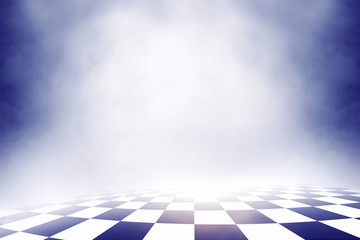 checkered background, sport racing on over cloud sky [Blur and Select focus background]