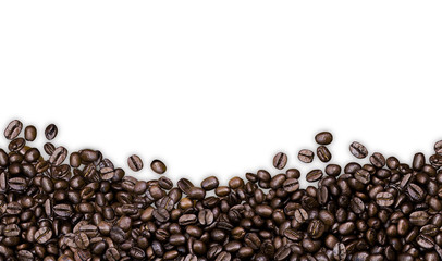 coffee beans on white background, clipping path