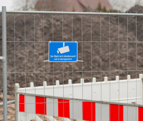 Videoüberwachung auf einer Baustelle