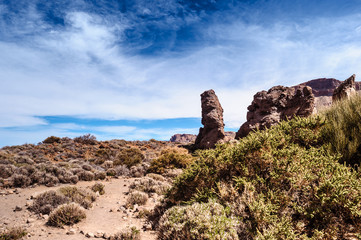 Volcanic landscape Teide