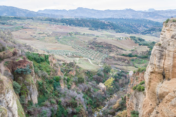 On the edge of the deep gorge Ronda